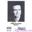 Andy Secombe who played WATTO Autographed In Gold Pen Official Star Wars Weekends 2003 Celebrity Collector Photo © Dizdude.com