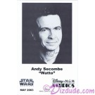 Andy Secombe voice of WATTO Official Star Wars Weekends 2003 Celebrity Collector Photo © Dizdude.com