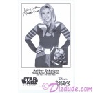 Ashley Eckstein the voice of Ahsoka Tano Presigned Official Star Wars Weekends 2013 Celebrity Collector Photo © Dizdude.com