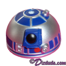 Silver & Blue R2 Dome Part ~ Disney Star Wars Astromech Build-A-Droid Factory © Dizdude.com