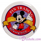 Disneyland Classic Mickey Pin Trading Logo Cast Exclusive Button © Dizdude.com