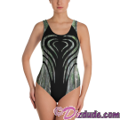 Heart Camo All Over Print Ladies Swimsuit © Hippieworks