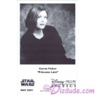Carrie Fisher Presigned Official Star Wars Weekends 2001 Celebrity Collector Photo © Dizdude.com