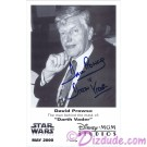 David Prowes who is Darth Vader Autographed in Blue Pen Official Star Wars Weekends 2000 Celebrity Collector Photo © Dizdude.com