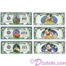 "Full set of 2014 all 3 Mountin Rides ""D"" Series Disney Dollars $1, $5 & $10 ~ © DIZDUDE.com"