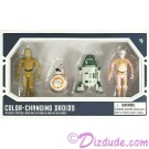 Star Wars Galaxy's Edge Color Changing 4 Droid Set from Disney World Action Figures 3¾ Inch 4 Droid Multi-Pack with 2 Protocol Droid and 2 Astromech Droids © Dizdude.com