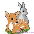 Spring Babies with Fawn & Rabbit T-Shirt and Tank Top (Tshirt, T shirt or Tee) © HIPPIEWORKS