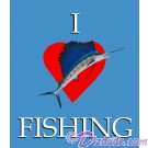 I Love Fishing T-Shirt or Tank Top on White (Tshirt, T shirt or Tee) © Hippieworks