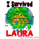 I Survived Hurricane Luara on White T-Shirt and Tank Top (Tshirt, T shirt or Tee) © HIPPIEWORKS