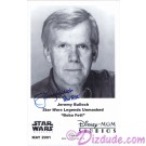 Jeremy Bulloch who played Boba Fett Autographed in Blue Pen Official Star Wars Weekends 2001 Celebrity Collector Photo © Dizdude.com