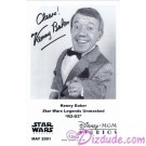 Kenny Baker who played R2-D2 Presigned Official Star Wars Weekends 2001 Celebrity Collector Photo © Dizdude.com