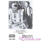 Kenny Baker who played R2-D2 Official Star Wars Weekends 2000 Celebrity Collector Photo © Dizdude.com