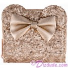 Minnie Mouse Rose Gold Sequined Wallet by Loungefly - Disney Parks © Dizdude.com