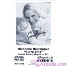 Michonne Bourriague who played Aurra Sing Presigned Official Star Wars Weekends 2003 Celebrity Collector Photo © Dizdude.com