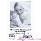 Michonne Bourriague who played Aurra Sing Official Star Wars Weekends 2003 Celebrity Collector Photo © Dizdude.com
