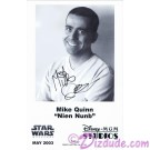 Mike Quinn who performed Nien Nunb Presigned Official Star Wars Weekends 2003 Celebrity Collector Photo © Dizdude.com