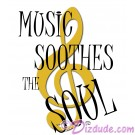 Music Soothes The Soul T-Shirt or Tank Top (Tshirt, T shirt or Tee) © HIPPIEWORKS