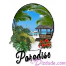 Paradise Beach with text T-Shirt or Tank Top (Tshirt, T shirt or Tee) © Hippieworks