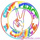 Give Peace A Chance T-Shirt or Tank Top (Tshirt, T shirt or Tee) © Hippieworks