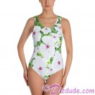 Small White Periwinkle All Over Print Ladies Swimsuit © Hippieworks