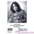 Peter Mayhew who played Chewbacca Presigned Official Star Wars Weekends 2001 Celebrity Collector Photo © Dizdude.com
