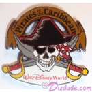 Walt Disney World Pirates of the Caribbean Skull & Cross Swords Pin © Dizdude.com