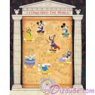 Walt Disney World Pin Pursuit Map Pin-board - I Conquered the World Pin Event with Build-a-Pin Base Completer Pin © Dizdude.com