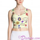 Peace Love & Happiness All Over Print Ladies Crop Top © Hippieworks