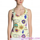 Peace Love & Happiness All Over Print Ladies Tank Top © Hippieworks