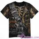 Disney's Pirates of the Caribbean - Pirate Skeleton Adult T-shirt (Tee, Tshirt or T shirt) Allover Print
