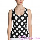 Black and White Polka Dots All Over Print Ladies Tank Top © Hippieworks