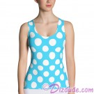 Blue and White Polka Dots All Over Print Ladies Tank Top © Hippieworks