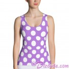 Lilac and White Polka Dots All Over Print Ladies Tank Top © Hippieworks