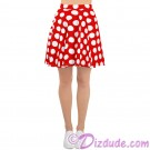 Red and White Polka Dots All Over Print Ladies Skirt © Hippieworks
