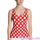 Red and White Polka Dots All Over Print Ladies Tank Top © Hippieworks