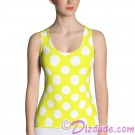 Yellow and White Polka Dots All Over Print Ladies Tank Top © Hippieworks
