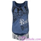 Rock 'N' Roller Coaster Fringed Aerosmith Ladies Tank Top - Disney Hollywood Studios