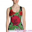 Red Rose Pattern All Over Print Ladies Crop Top © Hippieworks
