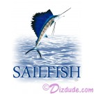 Sailfish Jumping T-Shirt or Tank Top  (Tshirt, T shirt or Tee) © Hippieworks