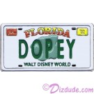 Walt Disney World - Cast Lanyard Series 1 - Dopey License Plate Pin © Dizdude.com