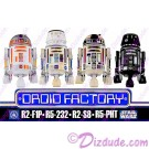 Solo A Star Wars Story - Disney World Astromech DROID FACTORY Action Figures 3¾ Inch 4 Droid Multi-Pack with R2-F1P • R5-232 • R2-S8 • R5-PHT © Dizdude.com