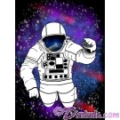 Reflections of Earth Spaceman on White T-Shirt (Tshirt, T shirt or Tee) © Hippieworks