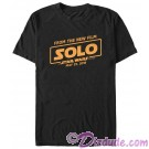 SOLO A Star Wars Story Film Logo Adult T-Shirt (Tshirt, T shirt or Tee)  © Dizdude.com