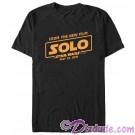 SOLO A Star Wars Story Film Logo Adult T-Shirt (Tshirt, T shirt or Tee)  © Dizdude.com