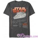 SOLO A Star Wars Story The Millennium Falcon Schematics Adult T-Shirt (Tshirt, T shirt or Tee)  © Dizdude.com