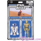Star Wars R2-D2 & C-3PO Celebrating the 40th Anniversary of Star Wars: A New Hope Twin Pack Droids - Disney World DROID FACTORY Action Figures © Dizdude.com