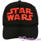 Disney Star Wars Title Logo Black & Red Adjustable Baseball Hat © Dizdude.com