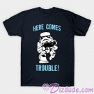 "Stormtrooper ""Here Comes Trouble"" Youth T-shirt  (Tee, Tshirt or T shirt) © Dizdude.com"