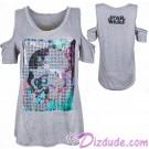 Disney Star Wars Stormtrooper Ladies Open Shoulder T-Shirt (Tshirt, T shirt or Tee) © Dizdude.com