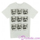 Vintage Star Wars Stormtrooper Expressions Today I Am Adult T-Shirt (Tshirt, T shirt or Tee) © Dizdude.com
